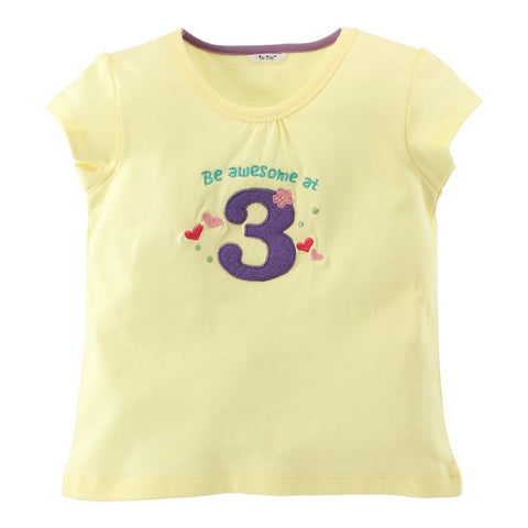 """Be awesome at 3"" Birthday Tee"