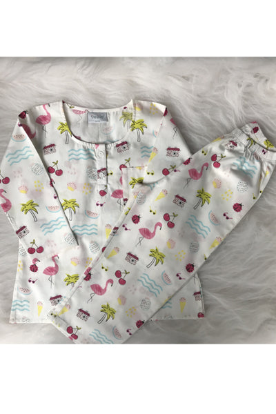 Flamingo Party Kurta Pyjama Set