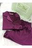 Royal Wine satin shorts set