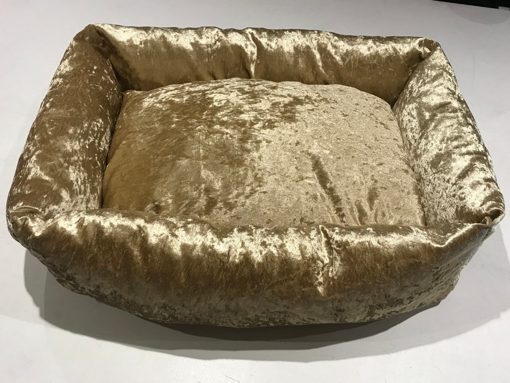 When Only A Gold Dog Bed Will Do
