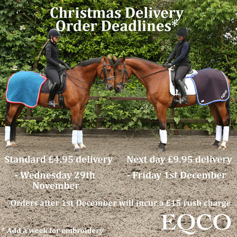 Eqco Christmas Delivery Order Deadlines
