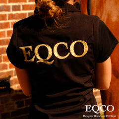 Eqco Black Gold Embroidered Gilet