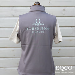 Eqco Horse Shoe Hearts Embroidered Gilet