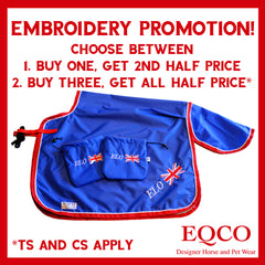 Eqco August 2020 Embroidery Promotion