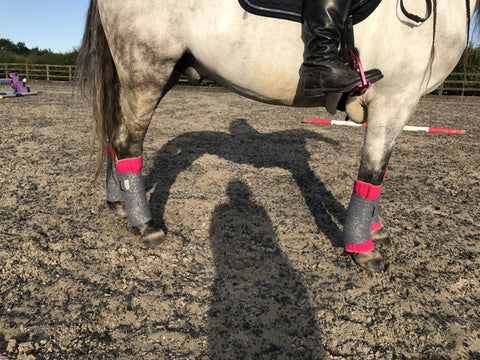Eqco Pink Bandage Pads with Grey and Silver Glitter Bandages