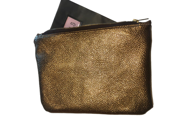 Eqco Horse Passport Wallet Dark Gold