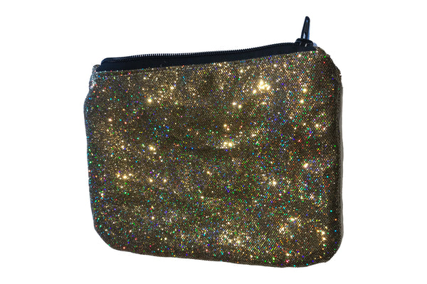 Eqco Gold Glitter Horse Passport Wallet
