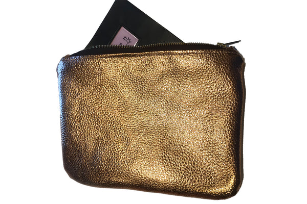 Eqco Rose Gold Horse Passport Wallet