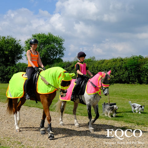 Eqco Mesh Fly Hi Viz Neon Pink Yellow Green Orange Exercise Rug Quarter Sheet