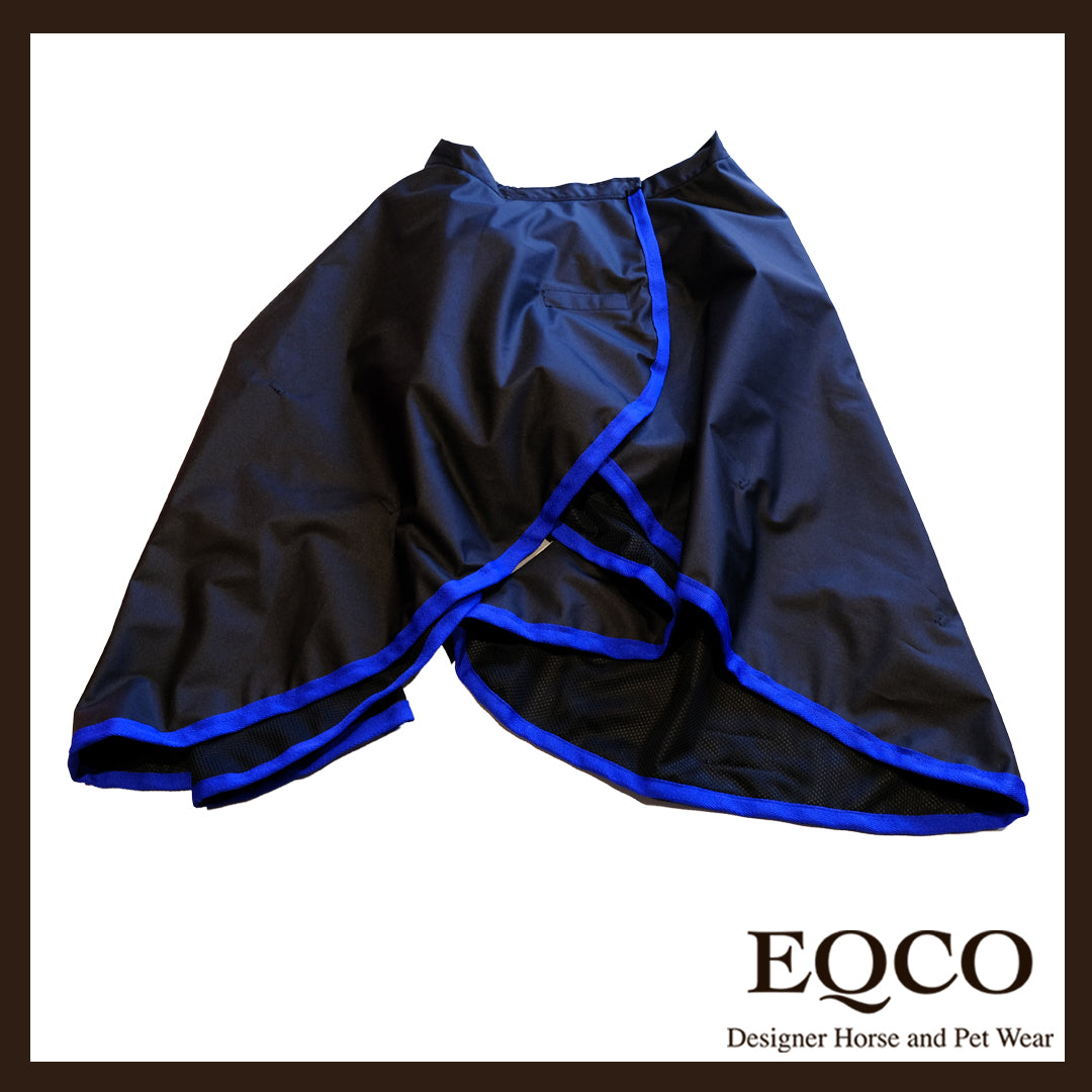 Ready To Dispatch Black With Royal Blue Binding Riding Skirt