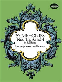 Symphonies Nos. 1, 2, 3 and 4 in Full Score (Dover Music Scores) Ludwig Van Beethoven;Music Scores 9780486260334