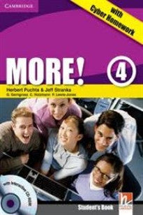 More!  4 Student's Book with Interactive CD-ROM with Cyber Homework Herbert Puchta;Peter Lewis-Jones 9780521155663