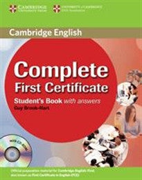 Complete First Certificate Student's Book with answers with CD-ROM Guy Brook-Hart 9780521698269