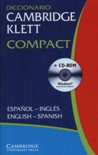 Diccionario Cambridge Klett Compact Español-Inglés-English-Spanish Paperback with CD ROM  9780521752985