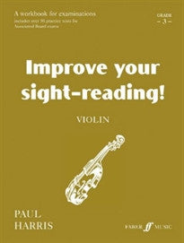 Improve Your Sight-Reading! Violin, Grade 3 Paul Harris 9780571513871