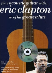 Clapton Eric Play Acoustic Guit With Tab CD (Book & CD) Clapton Eric 9780711983557