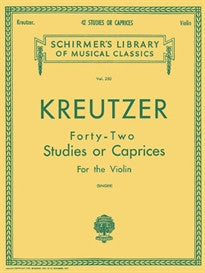 42 Studies Or Caprices (Schirmer's Library of Musical Classics) Rodolphe Kreutzer 9780793525942
