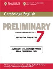 Cambridge preliminary english test. Student's book. Without answers. Con espansione online. Per le Scuole superiori: Cambridge English Preliminary 7 Student's Book without Answers (PET Practice Tests) Cambridge ESOL 9781107635661