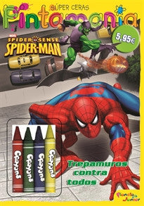 Spiderman. Pintamanía Súper Ceras: Trepamuros contra todos (Marvel. Spiderman) Spiderman 9788408102472
