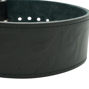 Alpha Designs 'BEAST' 10mm Single-Prong Powerlifting Belt - Stealth Edition - Hand made in the UK - Lifetime Warranty