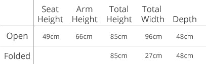 Personalise Online - Double Directors Chair Dimensions