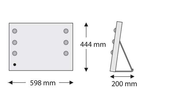 MDE-507 Makeup Mirror - dimensions