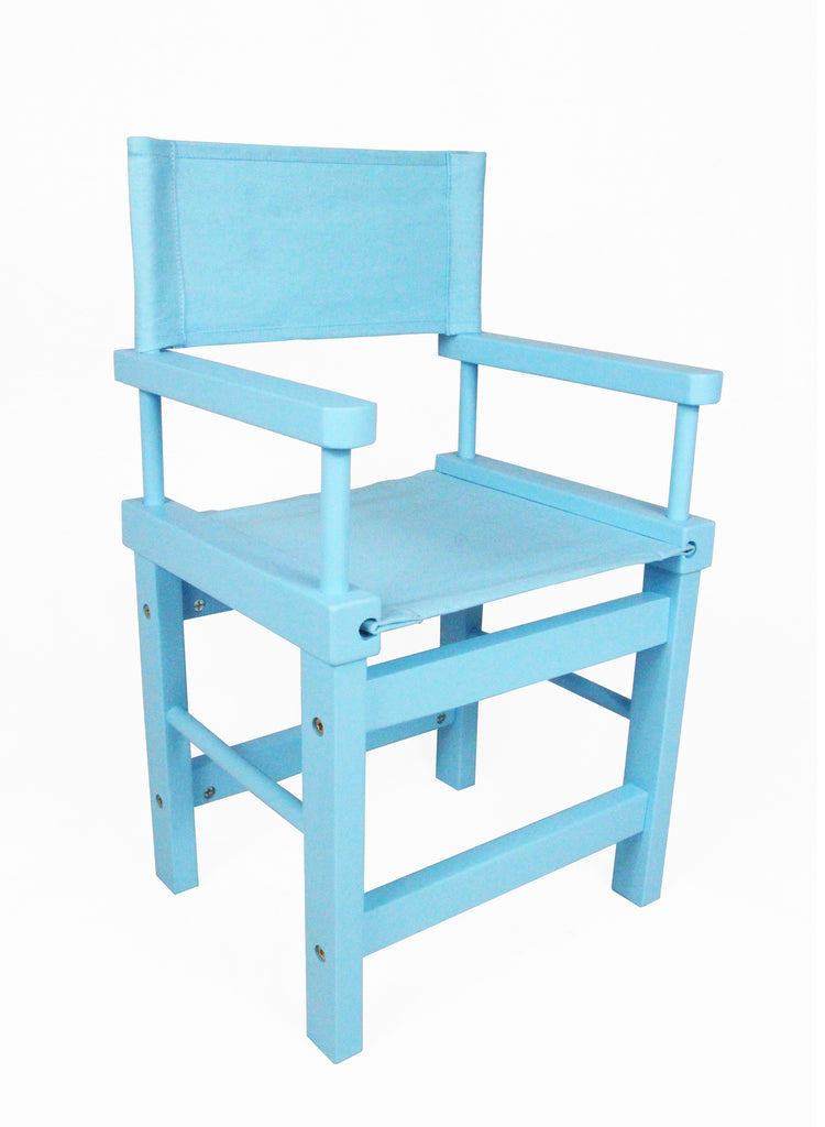 Kids' Directors Chair - Blue Frame, Blue Canvas