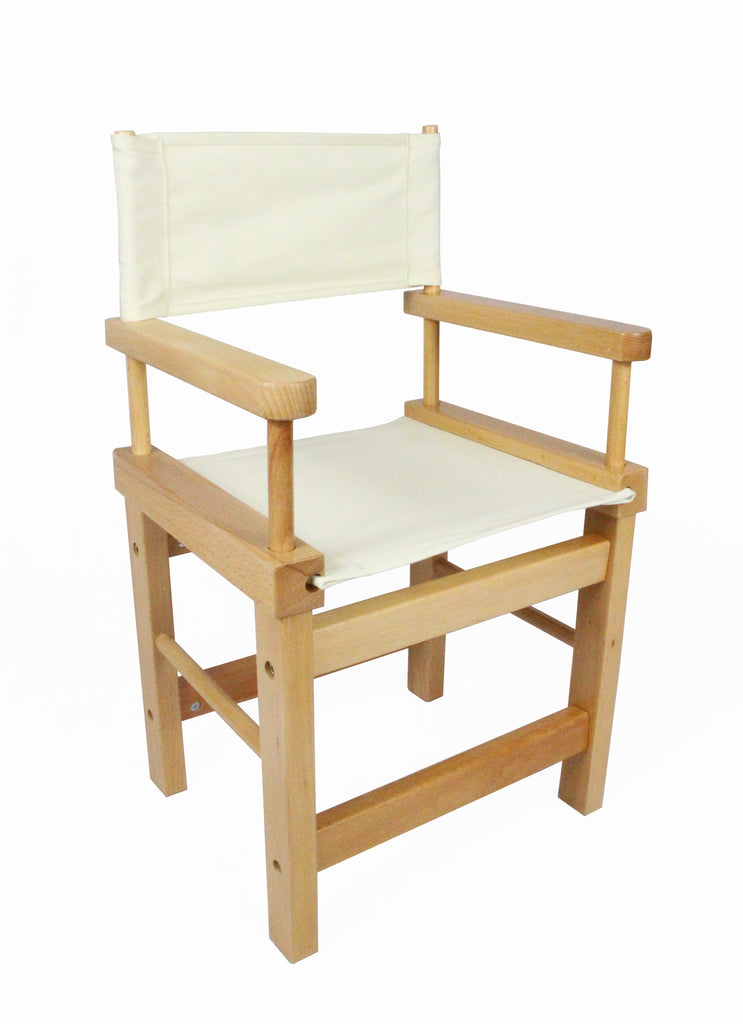 Kids' Directors Chair - Natural Frame, Beige Canvas