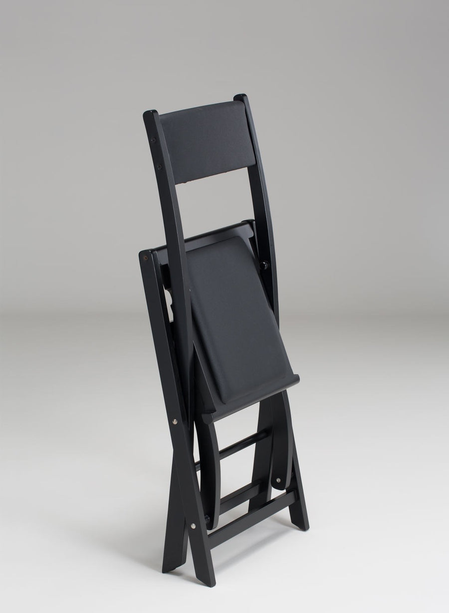 Padded Folding Wooden Salon Chair - Personalise Online - Folded