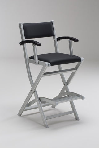 Padded Folding Aluminium Salon Armchair - Personalise Online - Black Seat