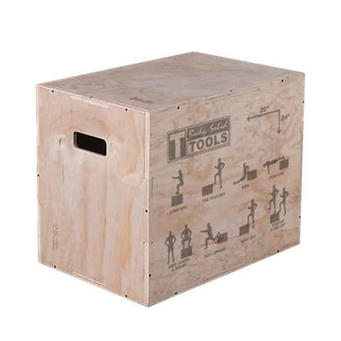 Body-Solid Tools 3-in-1 Houten Plyo Box BSTWPBOX