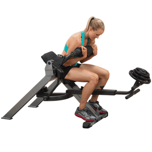 Body-Solid Semi-Recumbent Dual Ab Bench GAB350