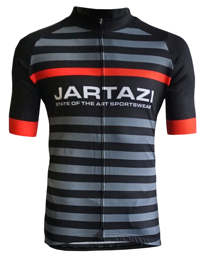JARTAZI - Cycling Jersey Short Sleeves + Hidden Zip (Men)