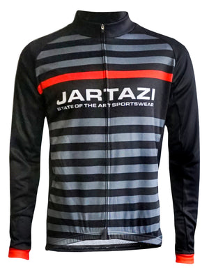 JARTAZI - Cycling Jersey Winter Long Sleeves + Hidden Zip (Men)
