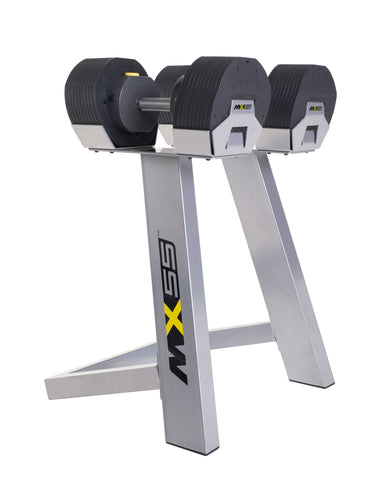 MX Select Verstelbare Dumbell set met rek MX55