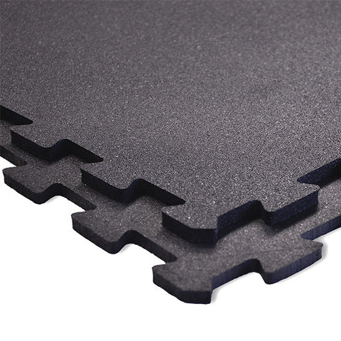 Body-Solid Tools 4 Pieces Interlocking Flooring - Solid Black RF4PMB