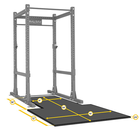 Body-Solid Power Rack Floor Mat SPRPLATFORM