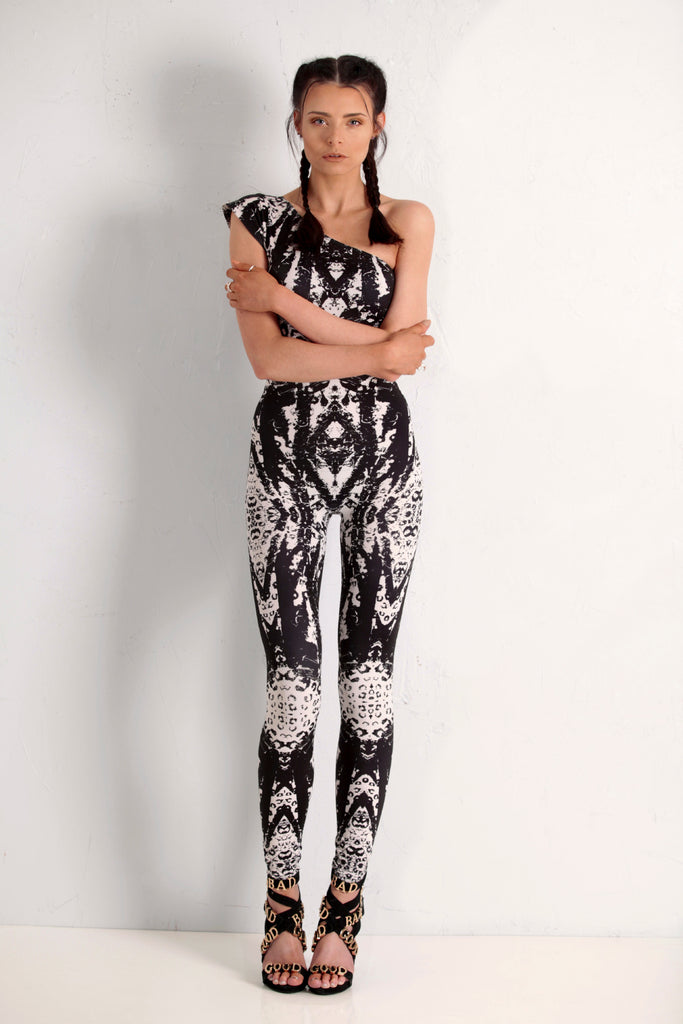 Amazonian Voodoo Capped Sleeve catsuit (varies from pic)