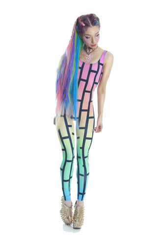 BUBBLEWALL CATSUIT IN RAINBOW RAVE