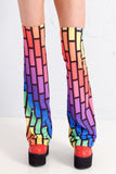 Bubblewall Legwarmers in Rainbow Trip