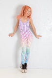 PRE ORDER Bubblewall Strappy Catsuit in Faerie Babe