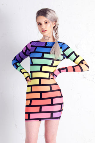 PRE ORDER Bubblewall Bodycon in Rainbow Trip