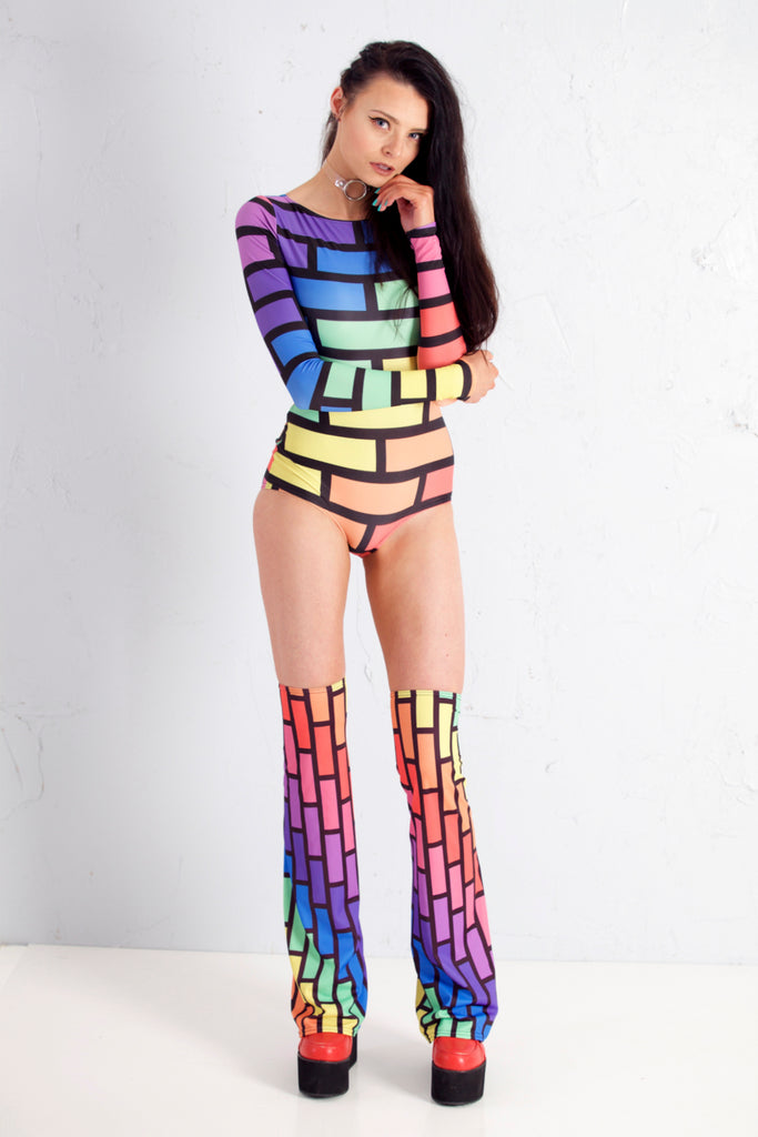Bubblewall Bodysuit in Rainbow Trip