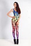 PRE ORDER Bubblewall Catsuit in Rainbow Trip