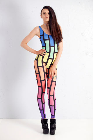 Bubblewall Catsuit in Rainbow Trip