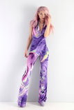 PRE ORDER Ariel Takes A Trip - To The Bar- Velvet Halterneck Catsuit