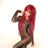 Gold Leopard Long Sleeve Catsuit