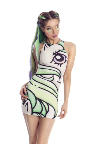 MY LITTLE PONY SEA GREEN BODYCON