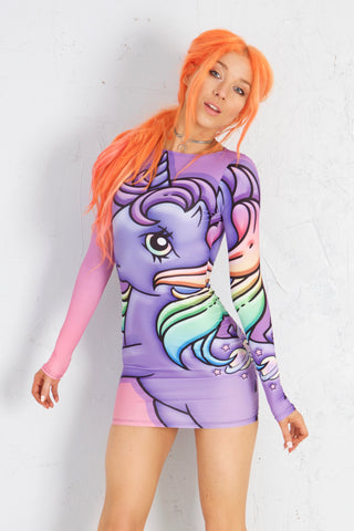 PRE ORDER MLP Rainbow Gosh Bodycon Dress