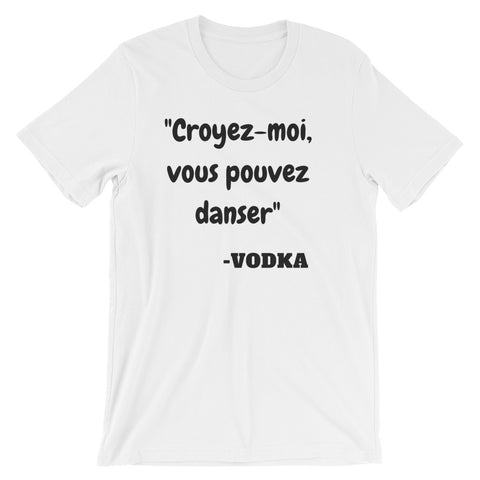 T-shirt, La vodka fait danser
